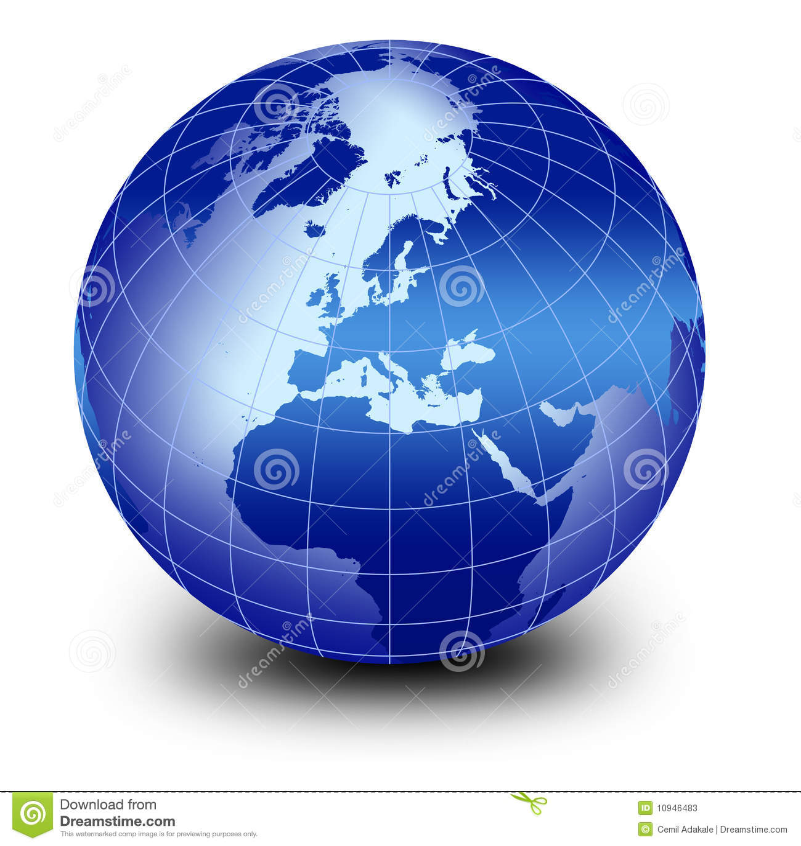 голубой мир глобуса