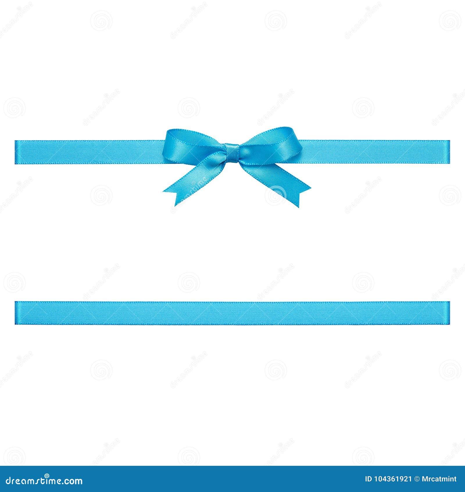 Голубой смычок сделанный ленты сатинировки