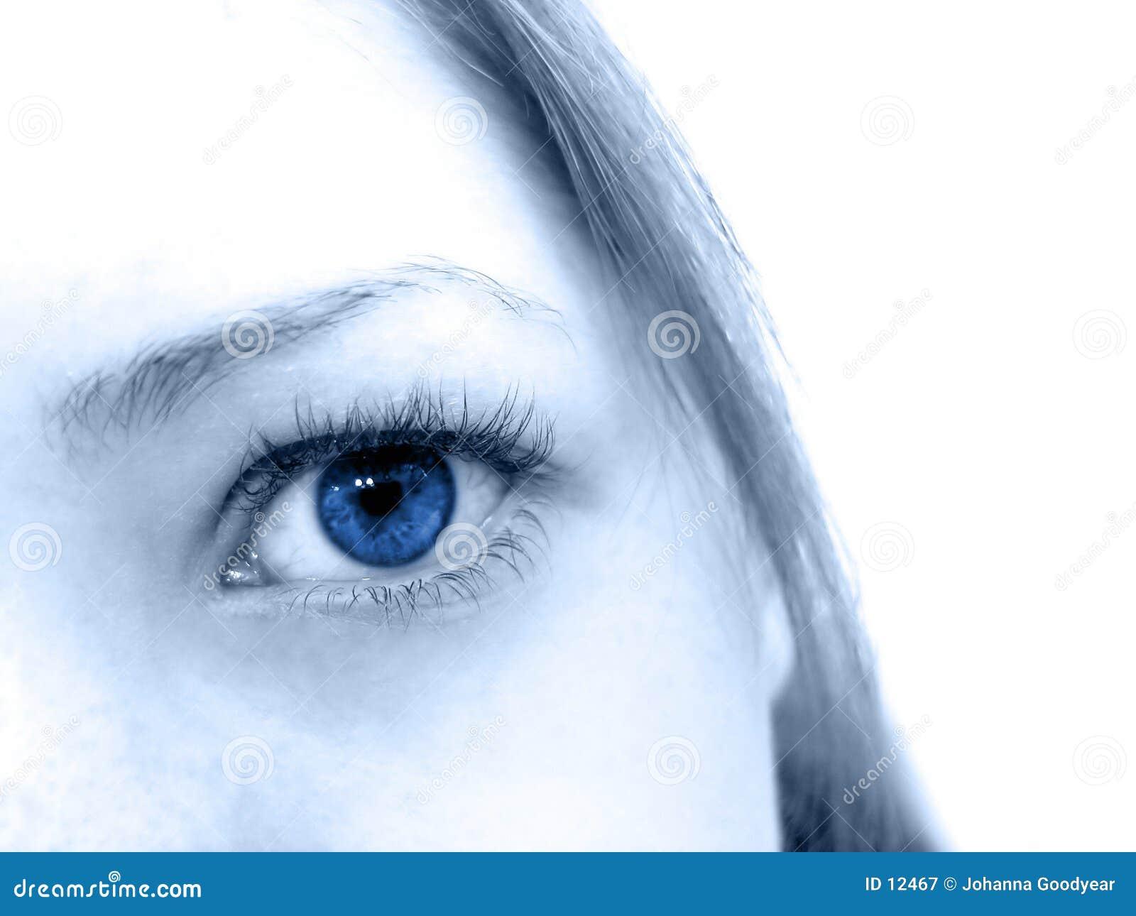 голубые глазы
