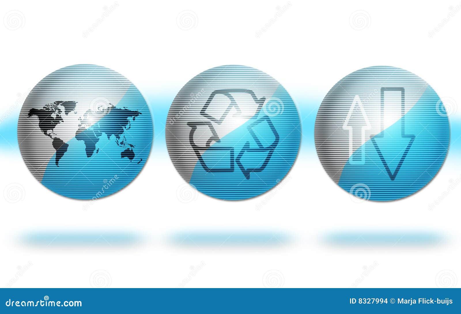 голубые глобусы окружающей среды