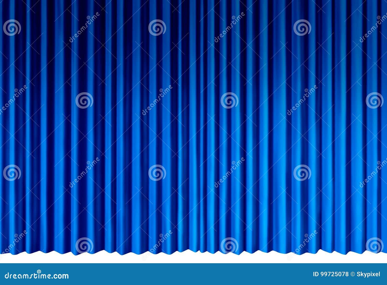 голубые занавесы