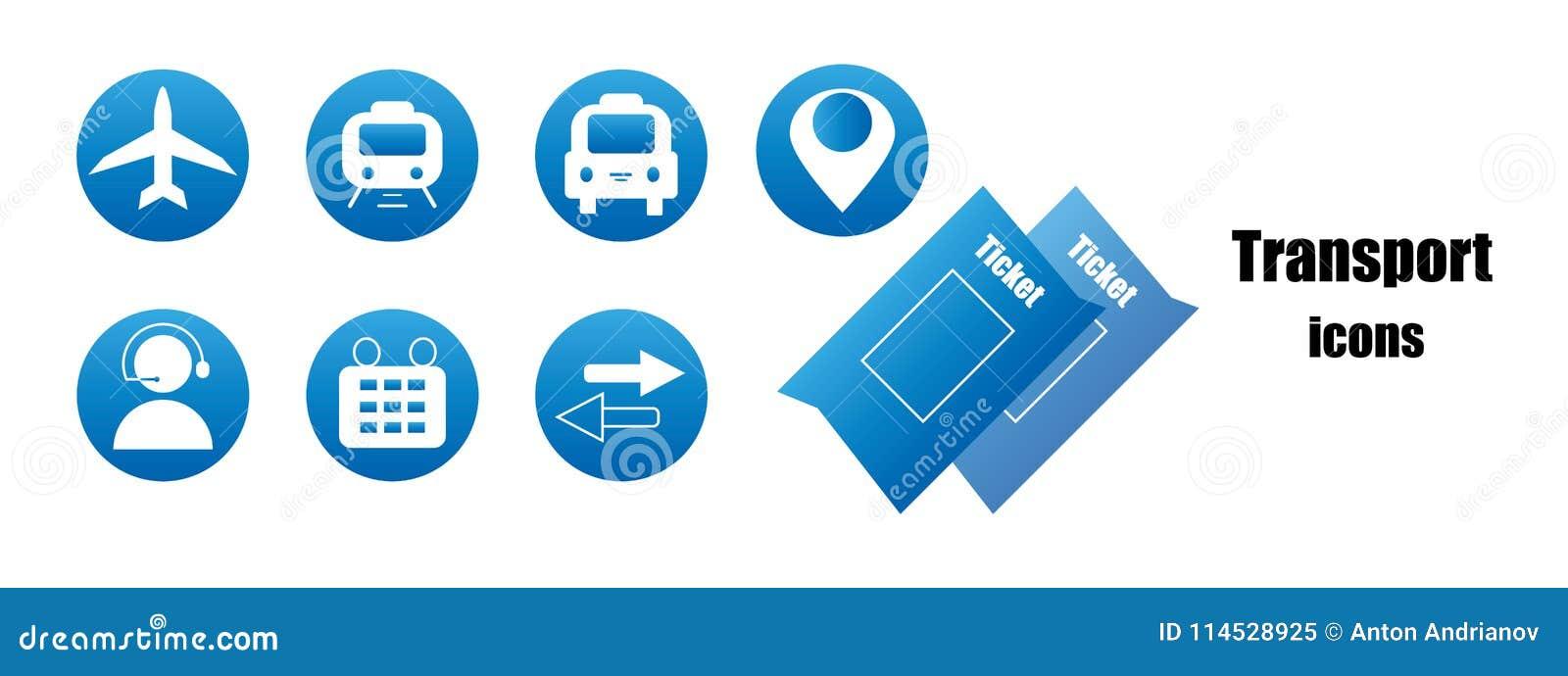 Голубые значки перехода