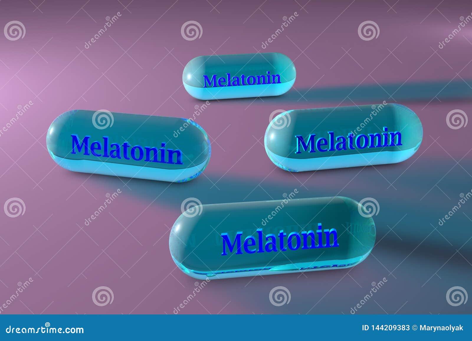 Голубые капсулы melatonin Melatonin инкреть которая производит pineal железой и регулирует сон и wakefulness o
