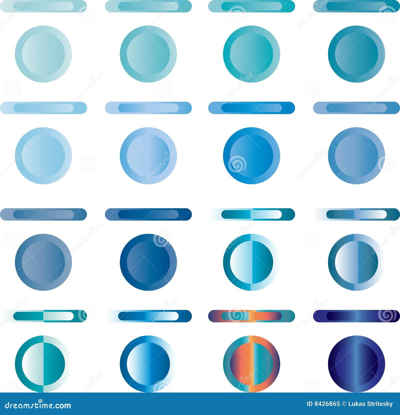 голубые кнопки кнопки 3d смотря сеть