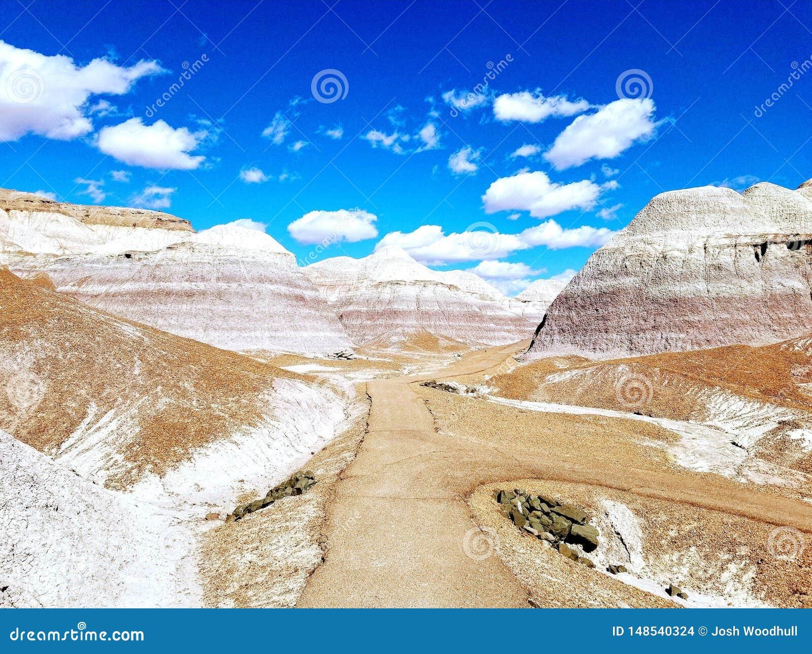 Голубые неплодородные почвы Аризона