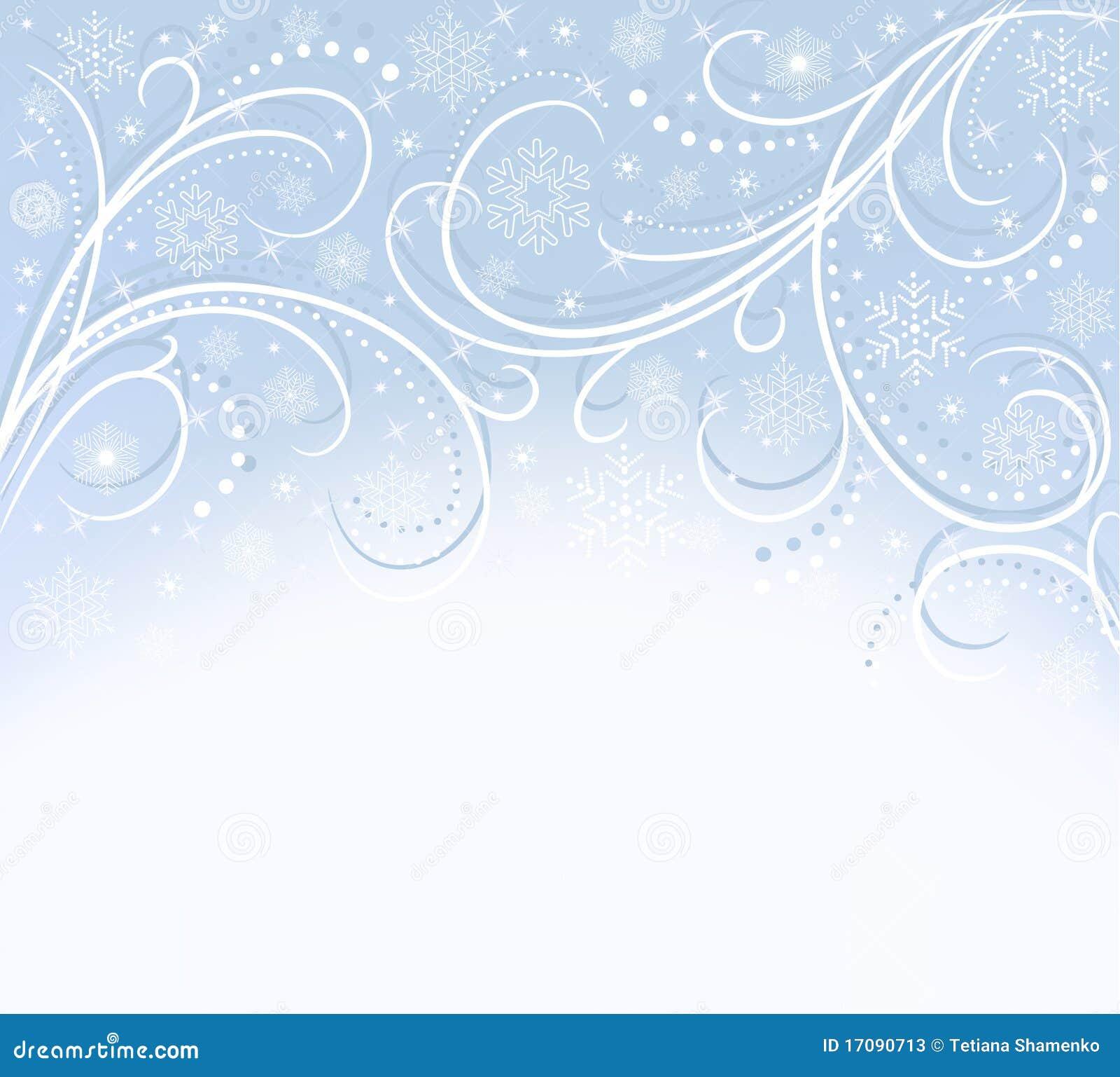 голубые снежинки карточки