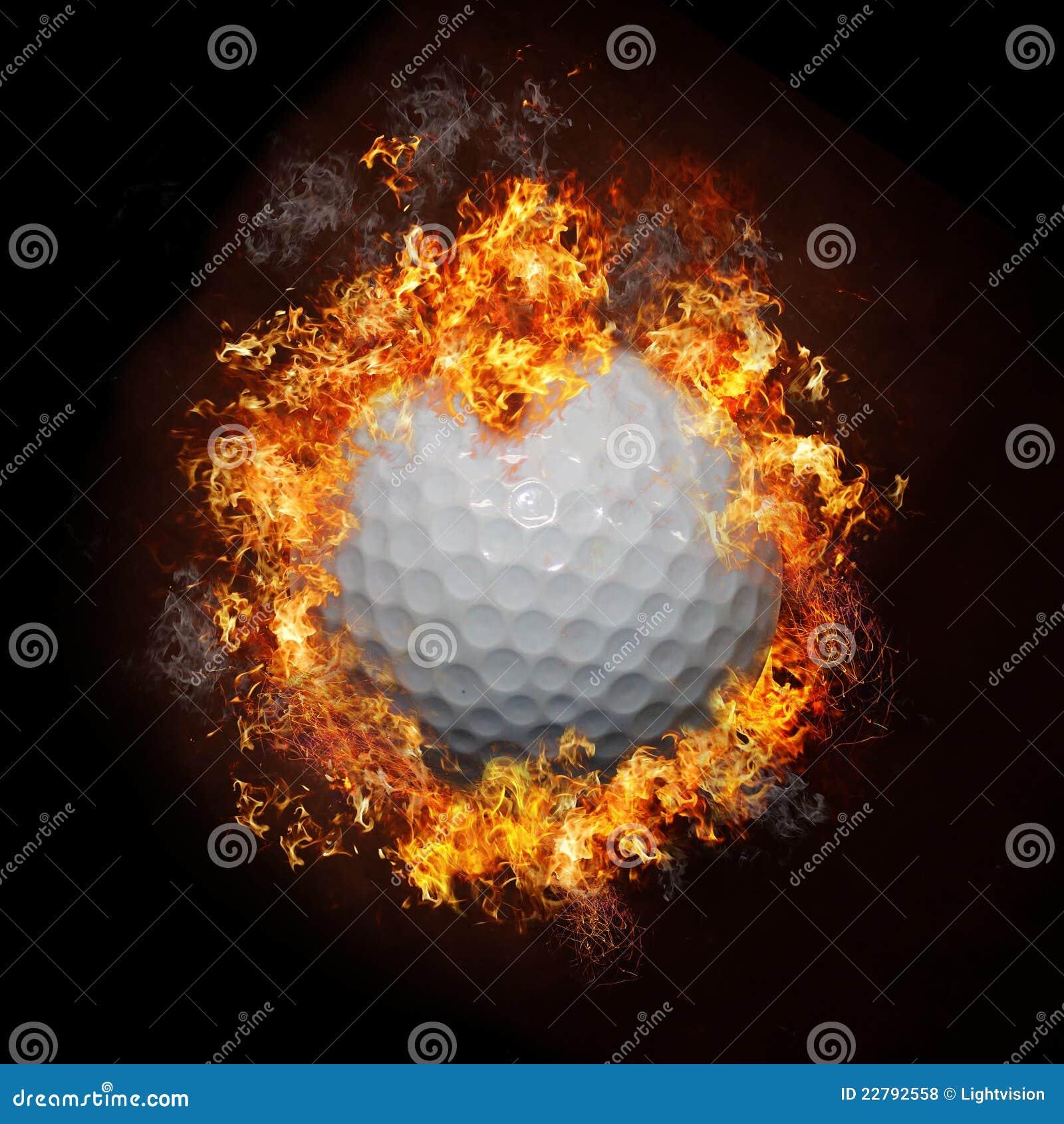 гольф пожара шарика