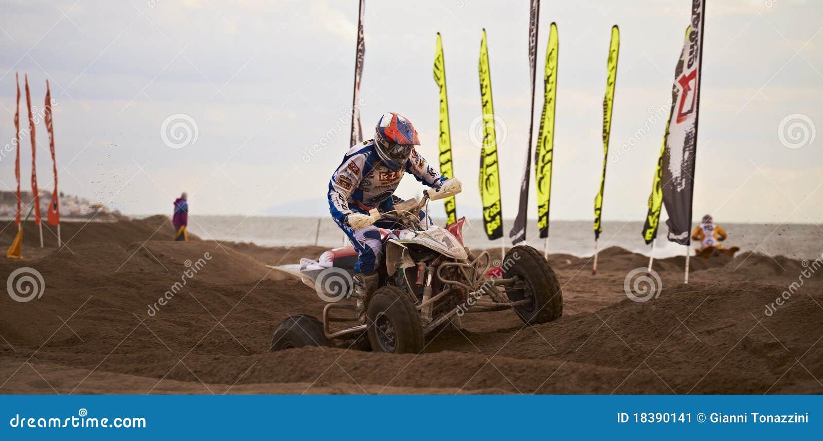 гонка квада motocross