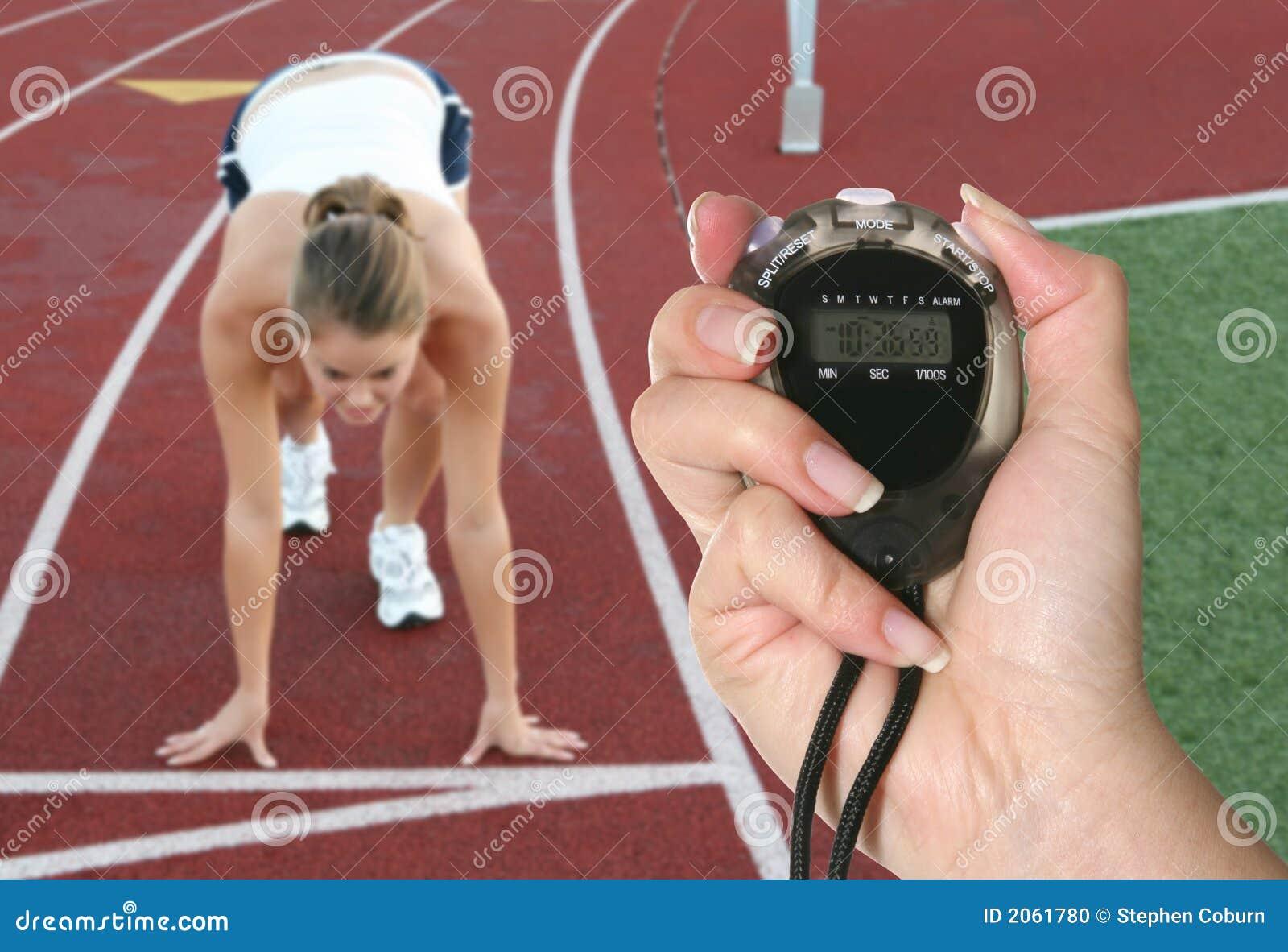 гонка начиная женщину