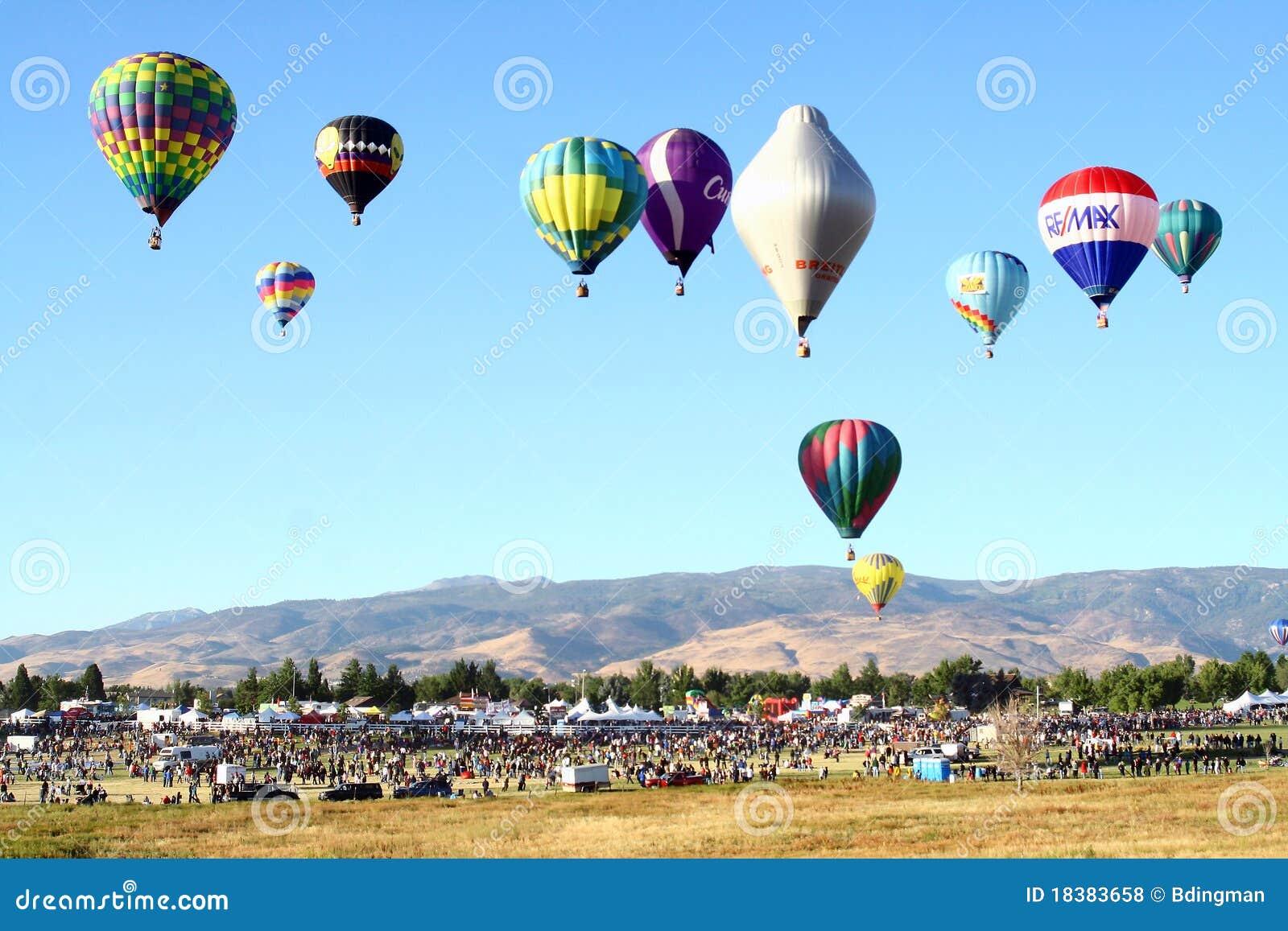 гонка reno воздушного шара большая
