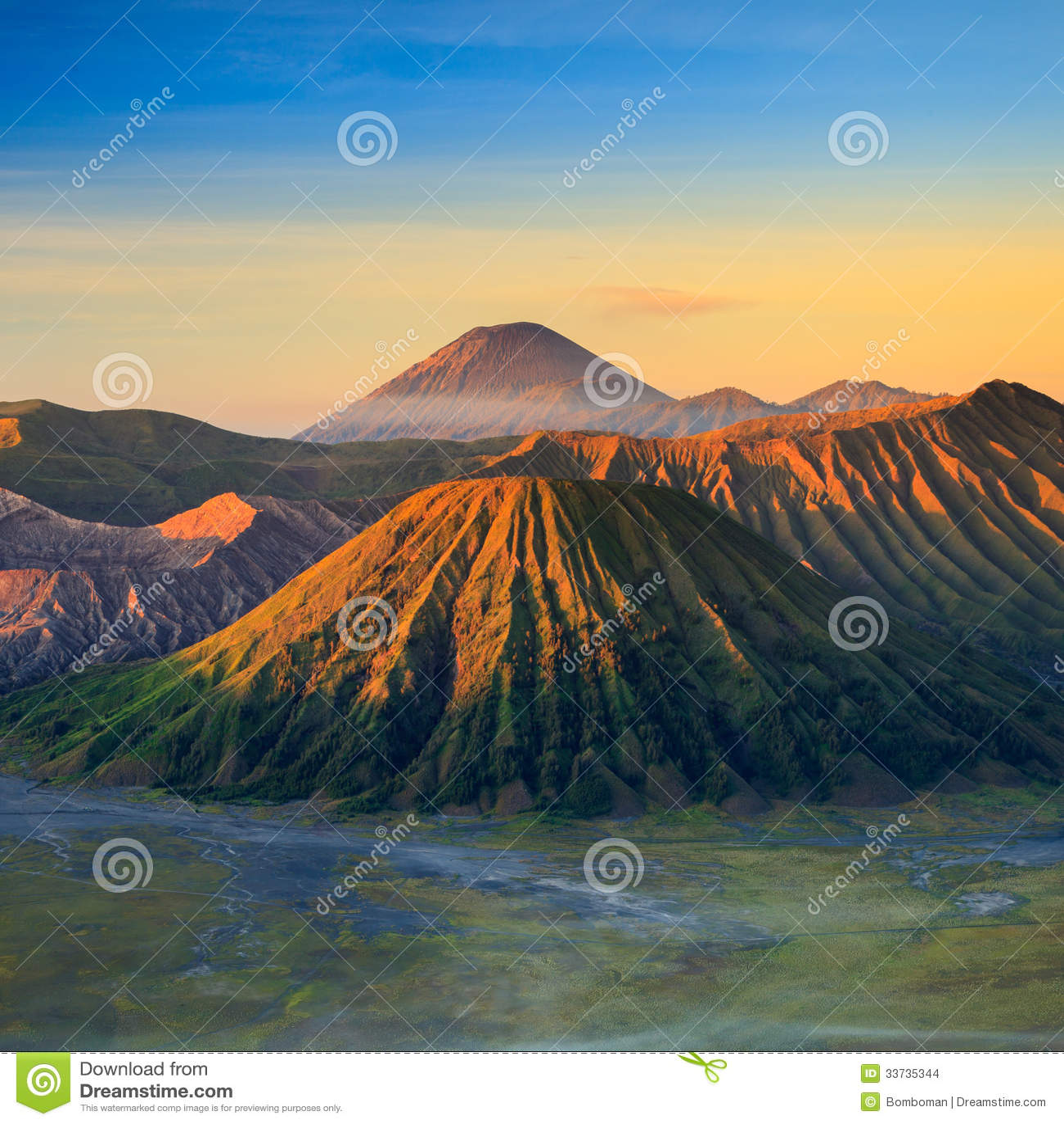 Гора вулкана Bromo