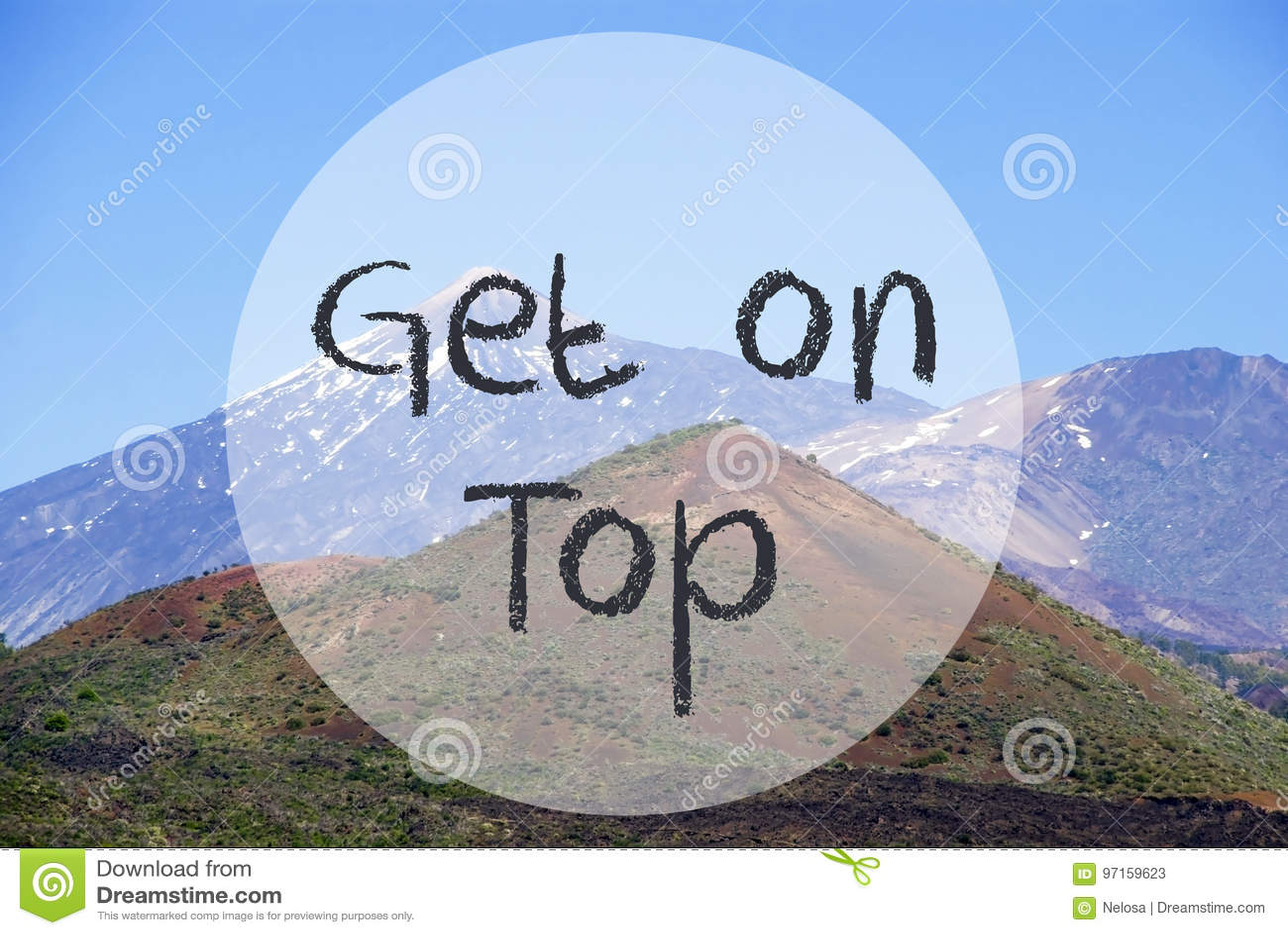 Гора Vulcano, текст получает на верхней части