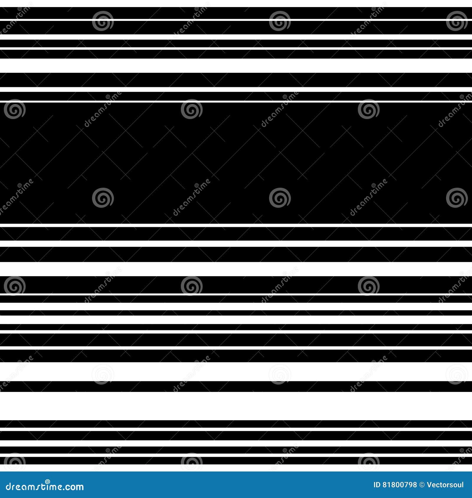 Горизонтальные прямые параллельные линии Абстрактное monochrome безшовное