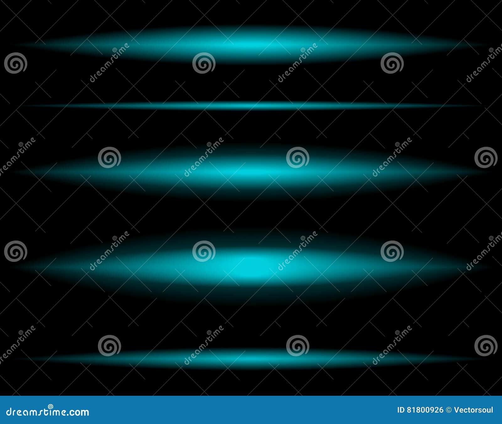 Горизонтальные световые лучи увядая к прозрачному