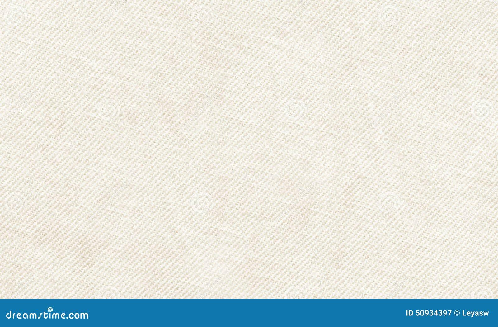 Горизонтальный белый материал холста, который нужно использовать как предпосылка или текстура