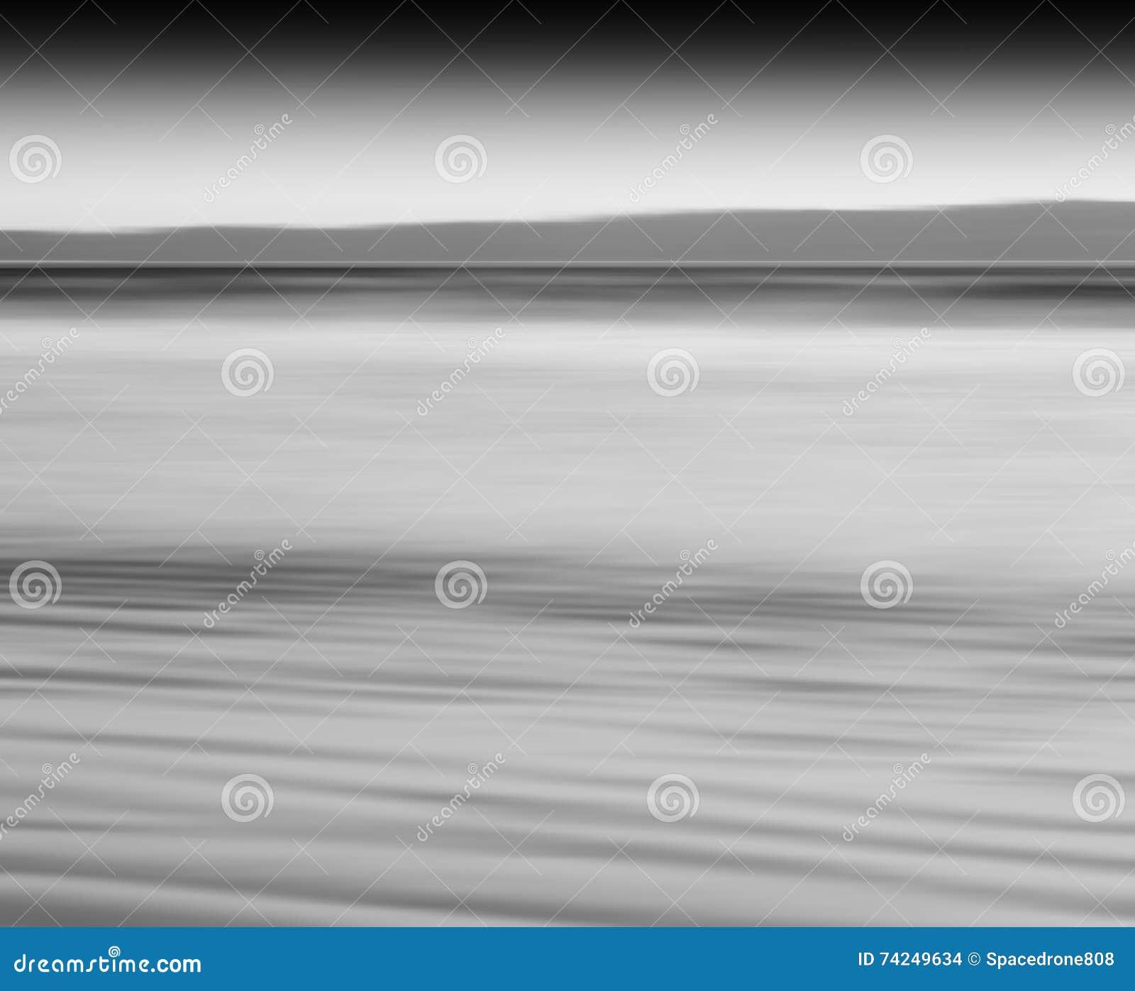 Горизонтальный черно-белый ба абстракции нерезкости движения молока океана