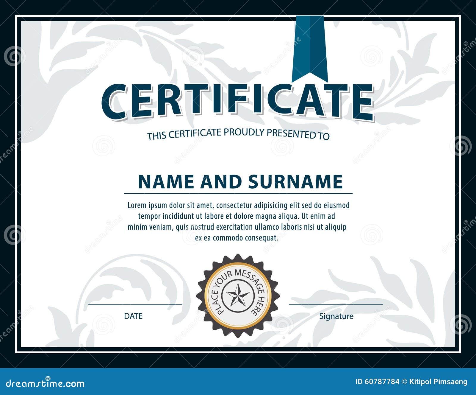 Горизонтальный шаблон сертификата диплом размер письма вектор  Горизонтальный шаблон сертификата диплом размер письма вектор