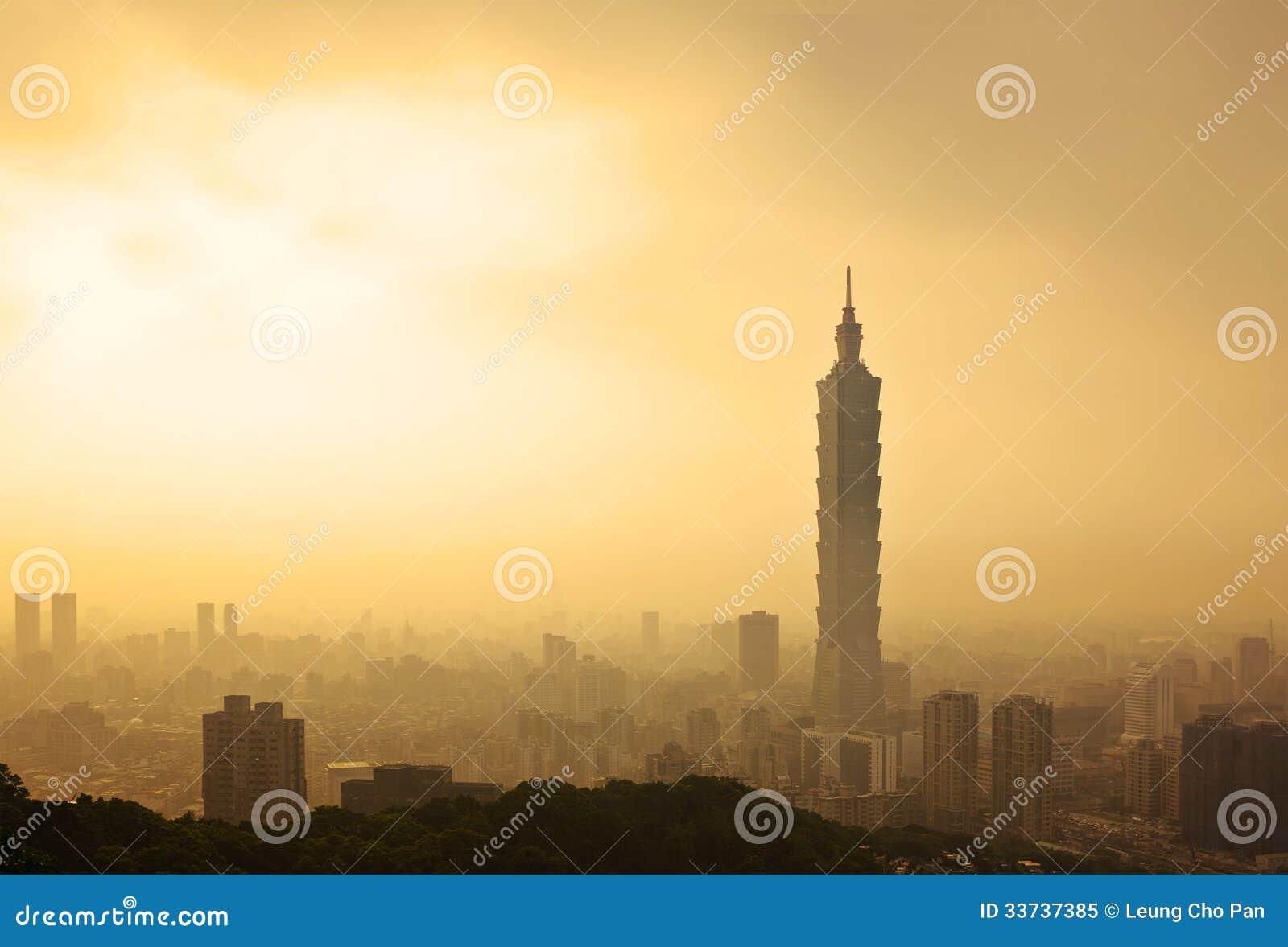 Горизонт вечера Тайбэя, Тайваня