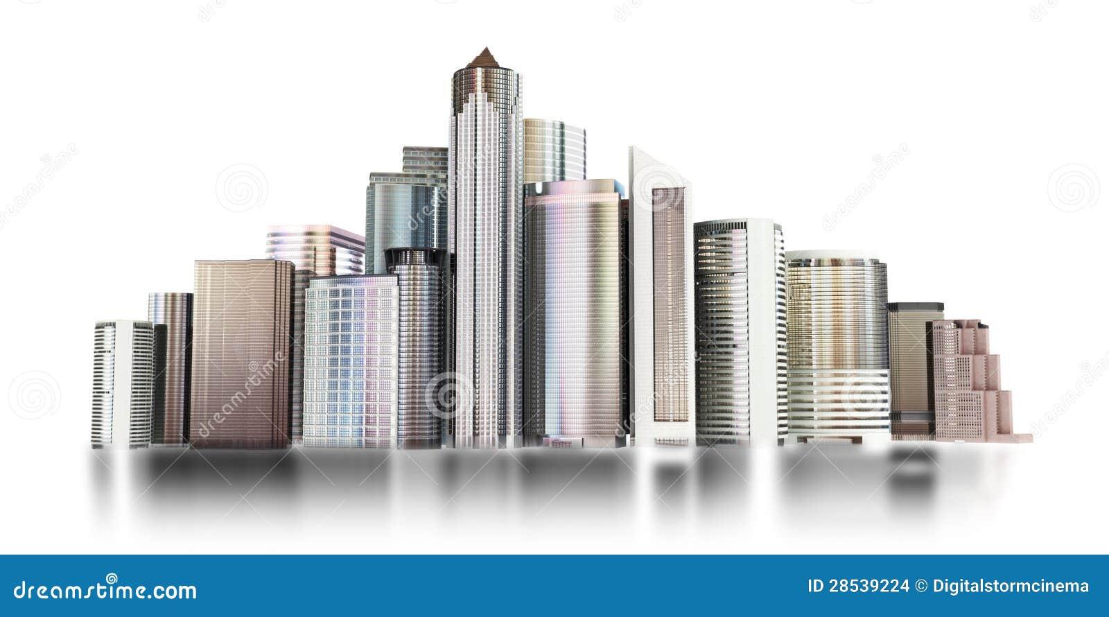 горизонт города 3d