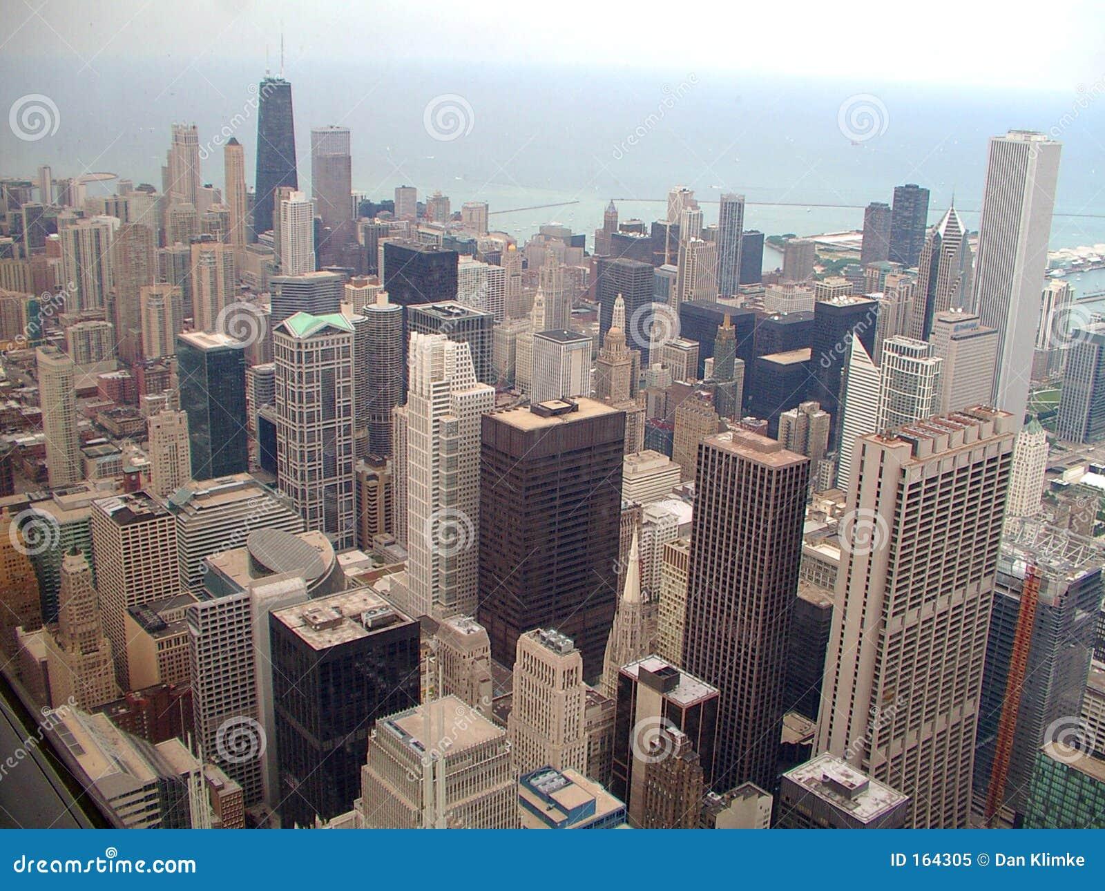 горизонт города chicago