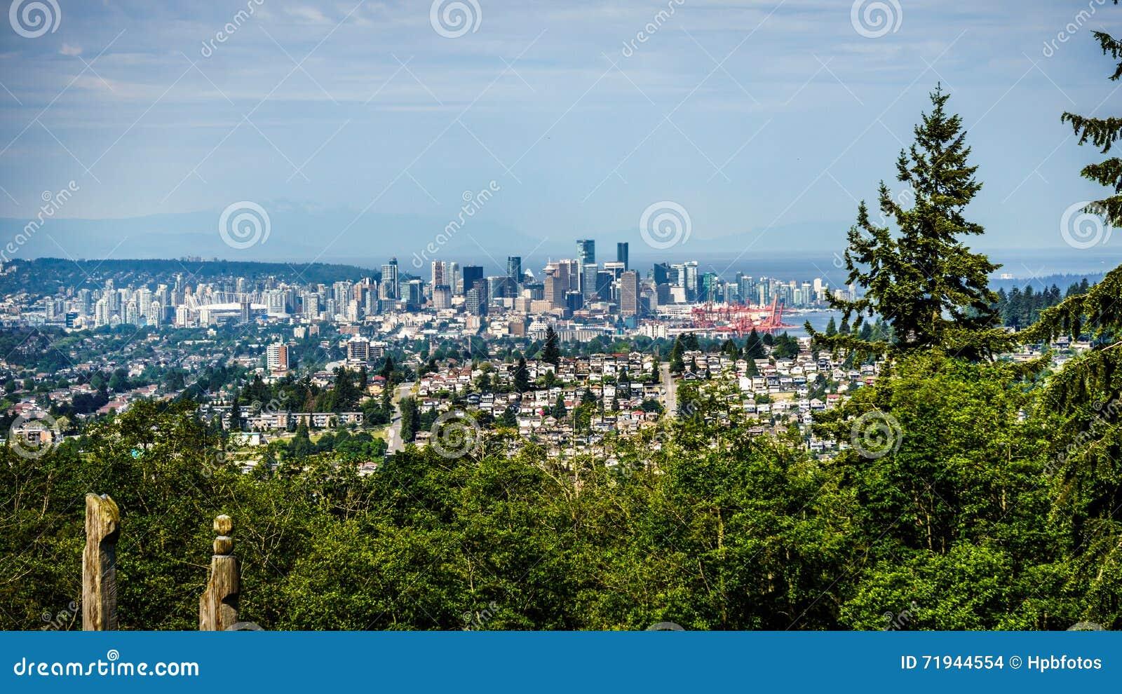 Горизонт города Ванкувера, Британской Колумбии