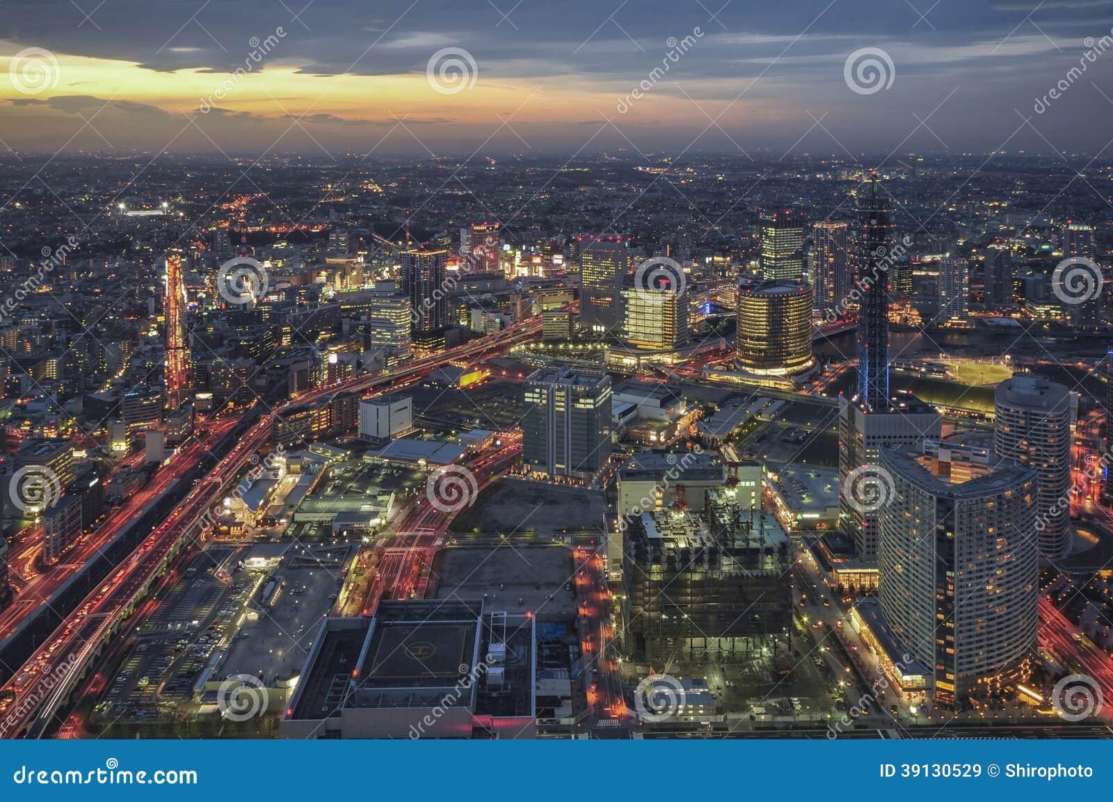 Горизонт города Иокогама, Японии