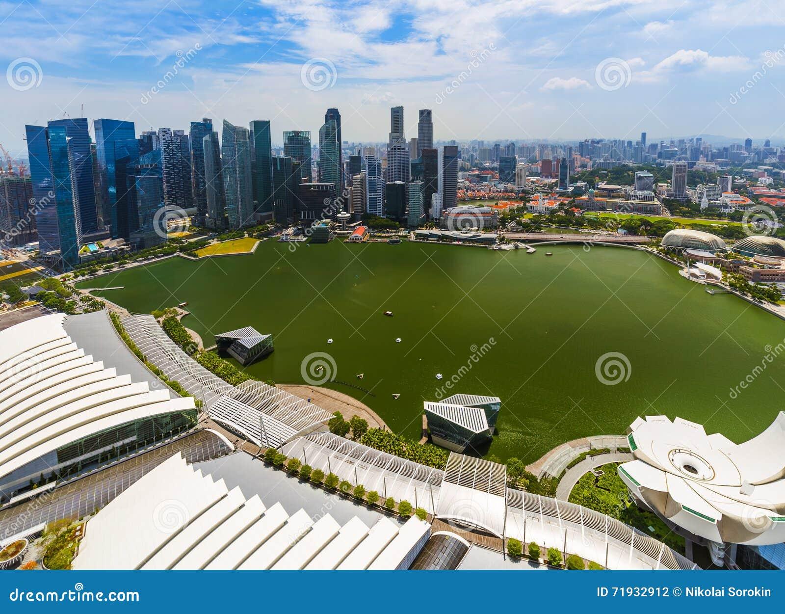 Горизонт города Сингапура