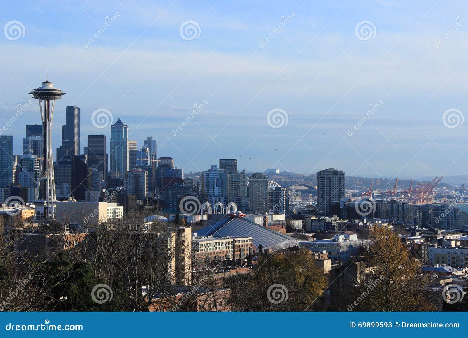 Горизонт города Сиэтл