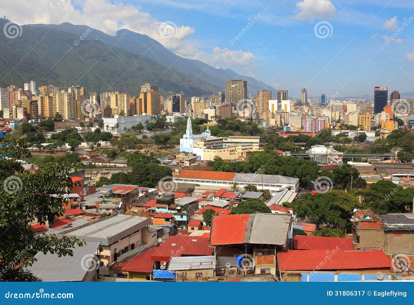 : Горизонт городских Каракаса - Венесуэлы