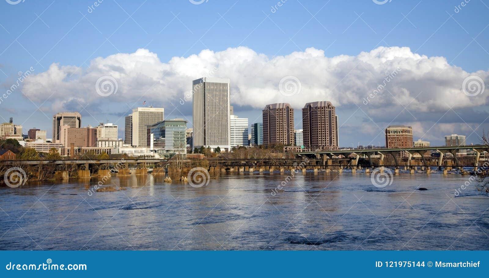 Горизонт Ричмонда, городского пейзажа Вирджинии
