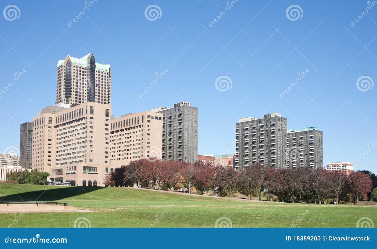 горизонт святой louis городского пейзажа