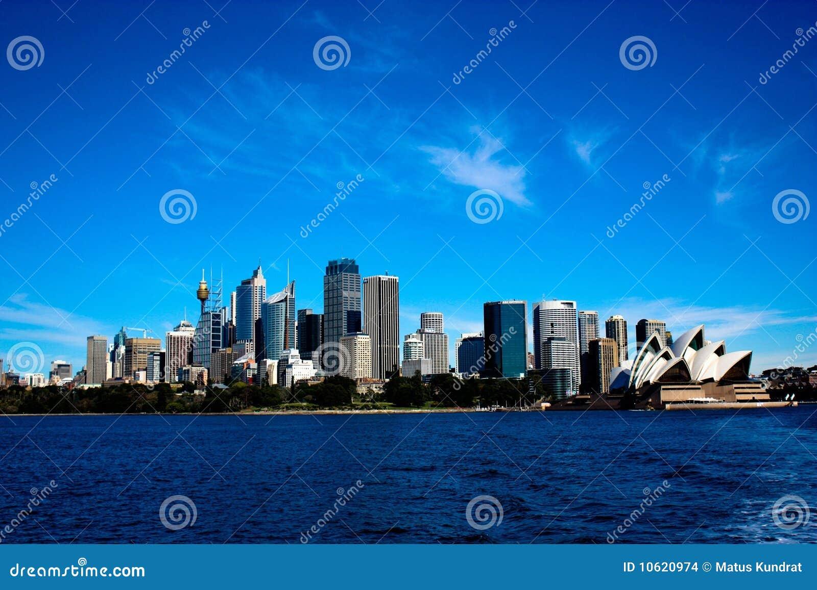 горизонт Сидней города