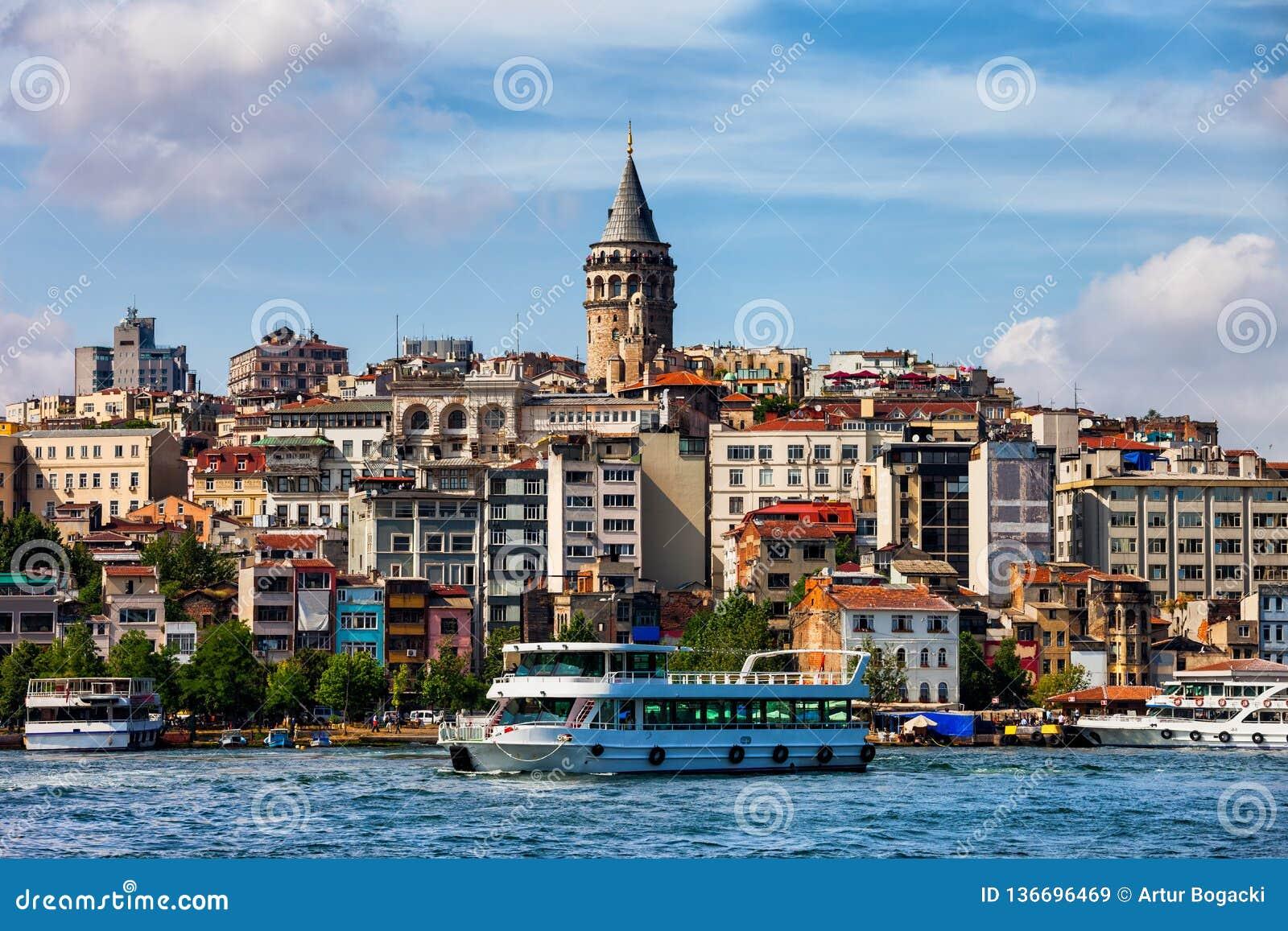 Горизонт Стамбула в Турции