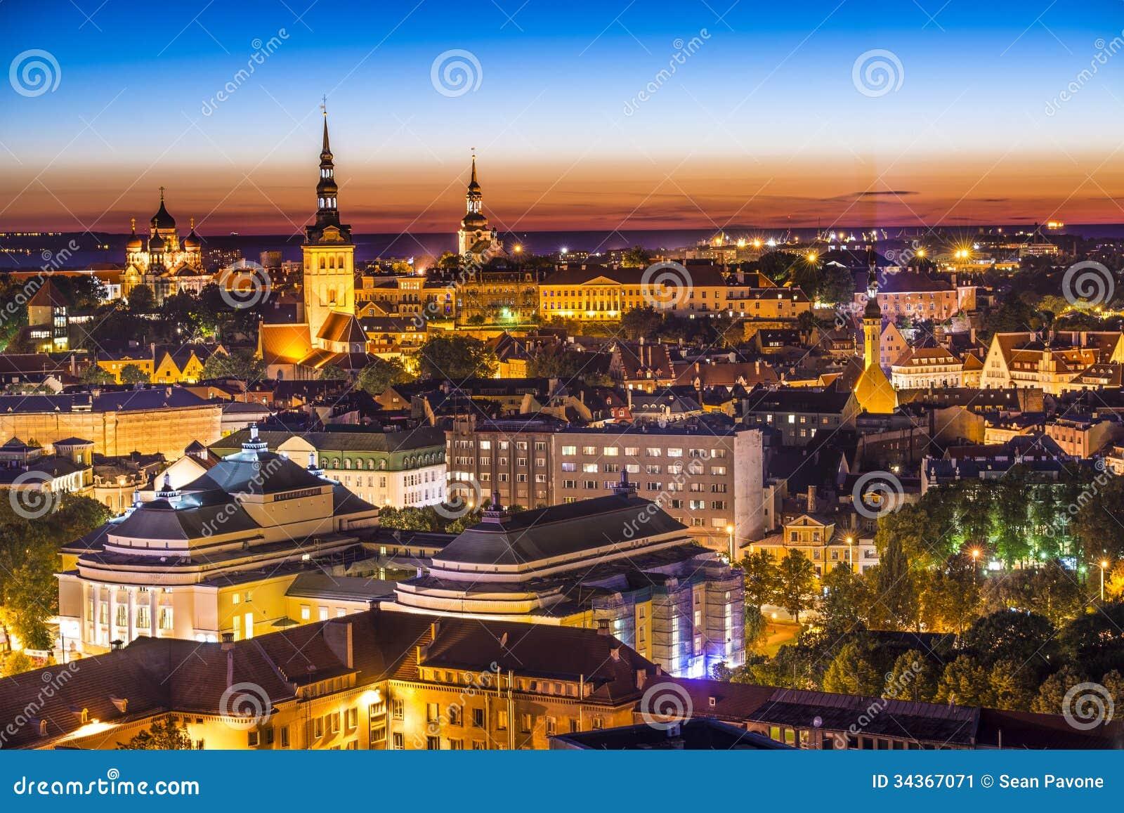 Горизонт Таллина Эстонии