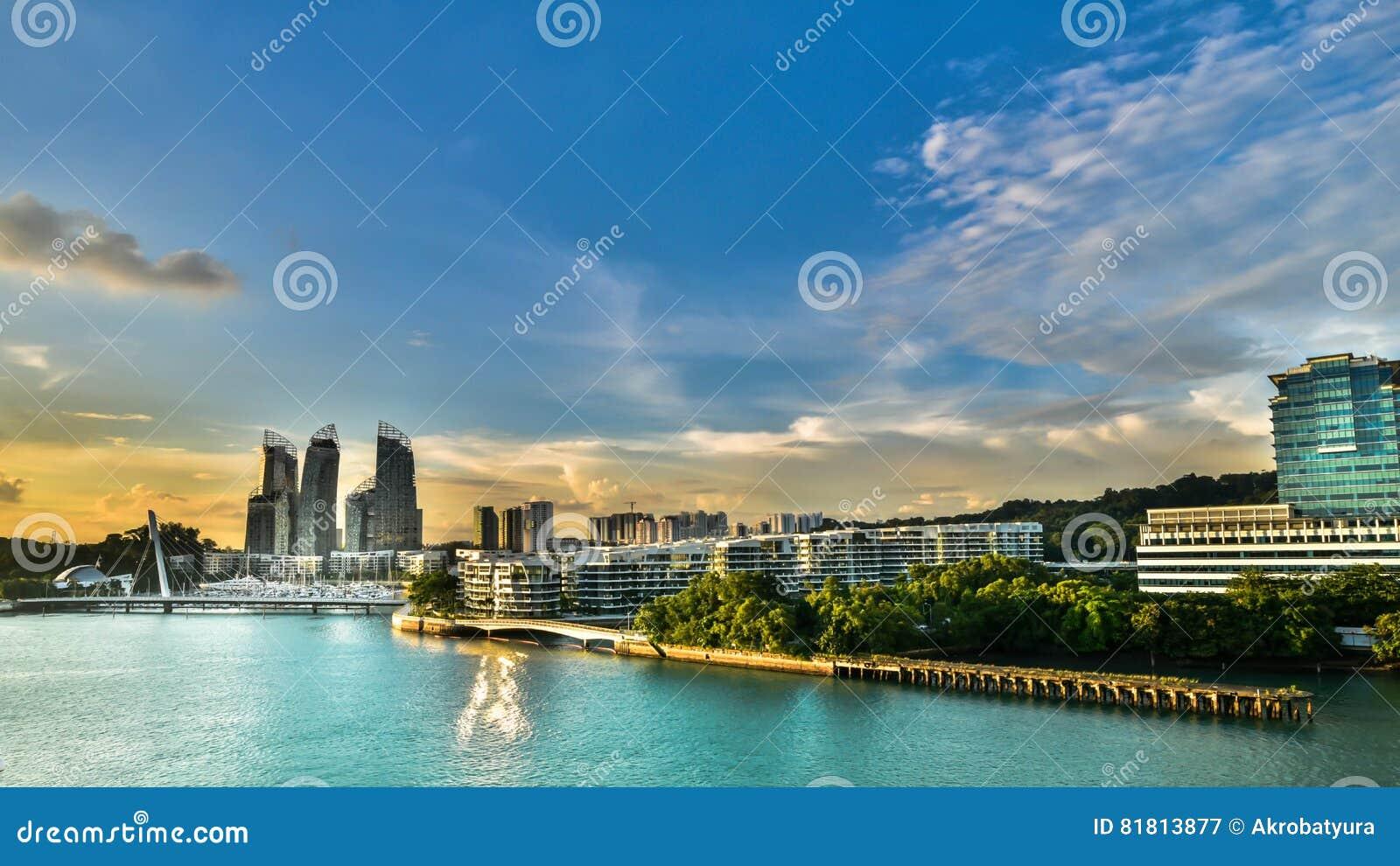 Горизонт HDR зданий Сингапура