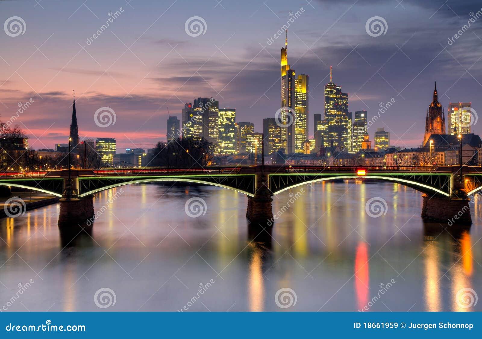 горизонт hdr frankfurt сумрака