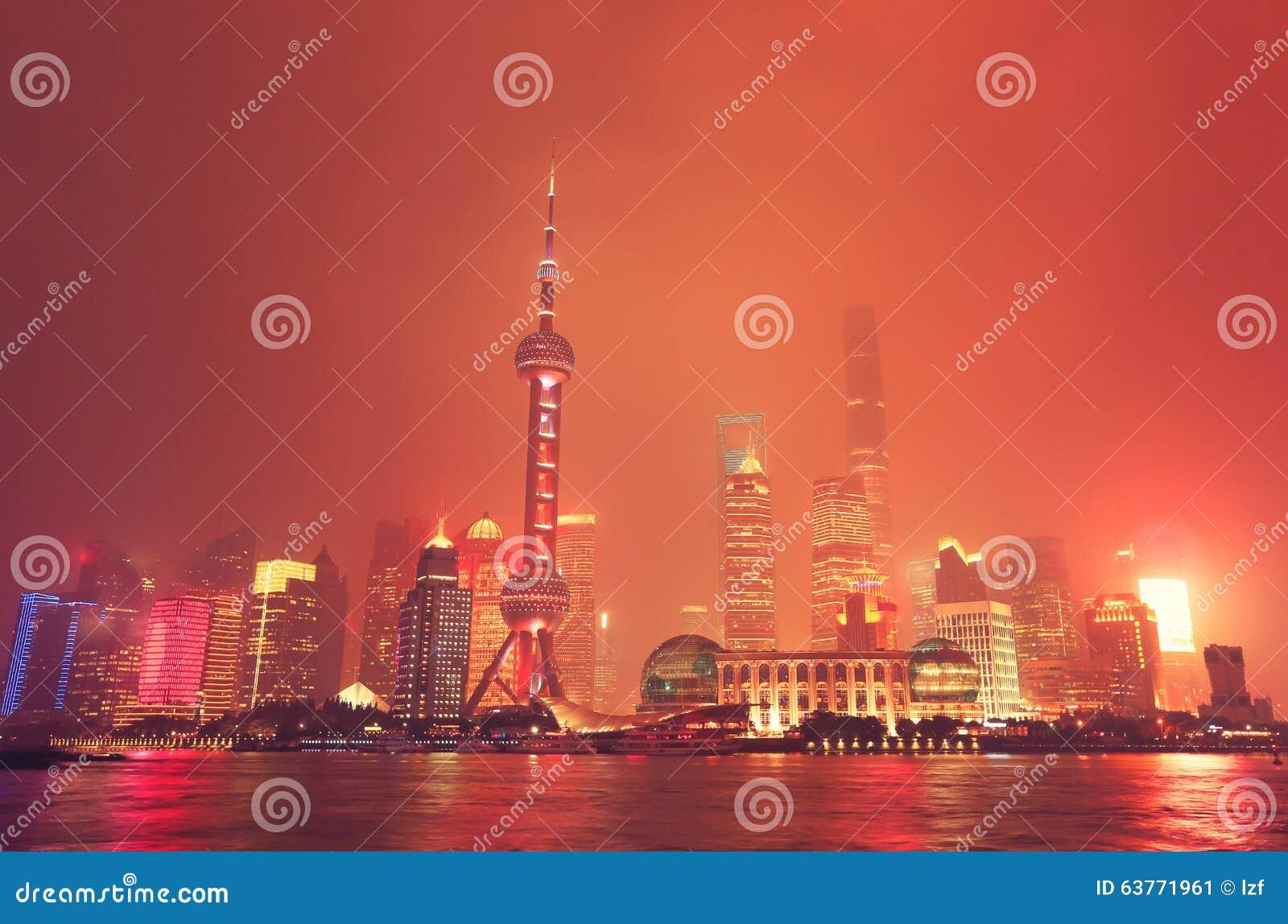 горизонт shanghai ночи