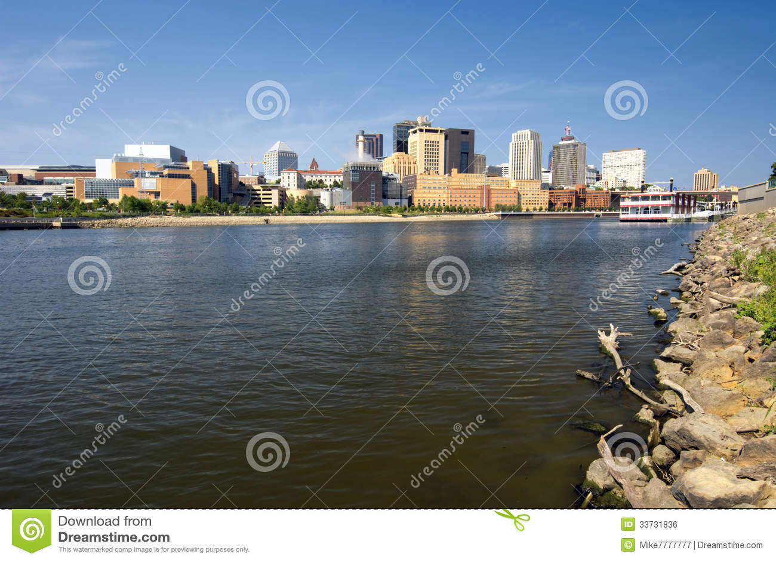 Горизонт St Paul, река Миссисипи, St Paul, Минесота, США
