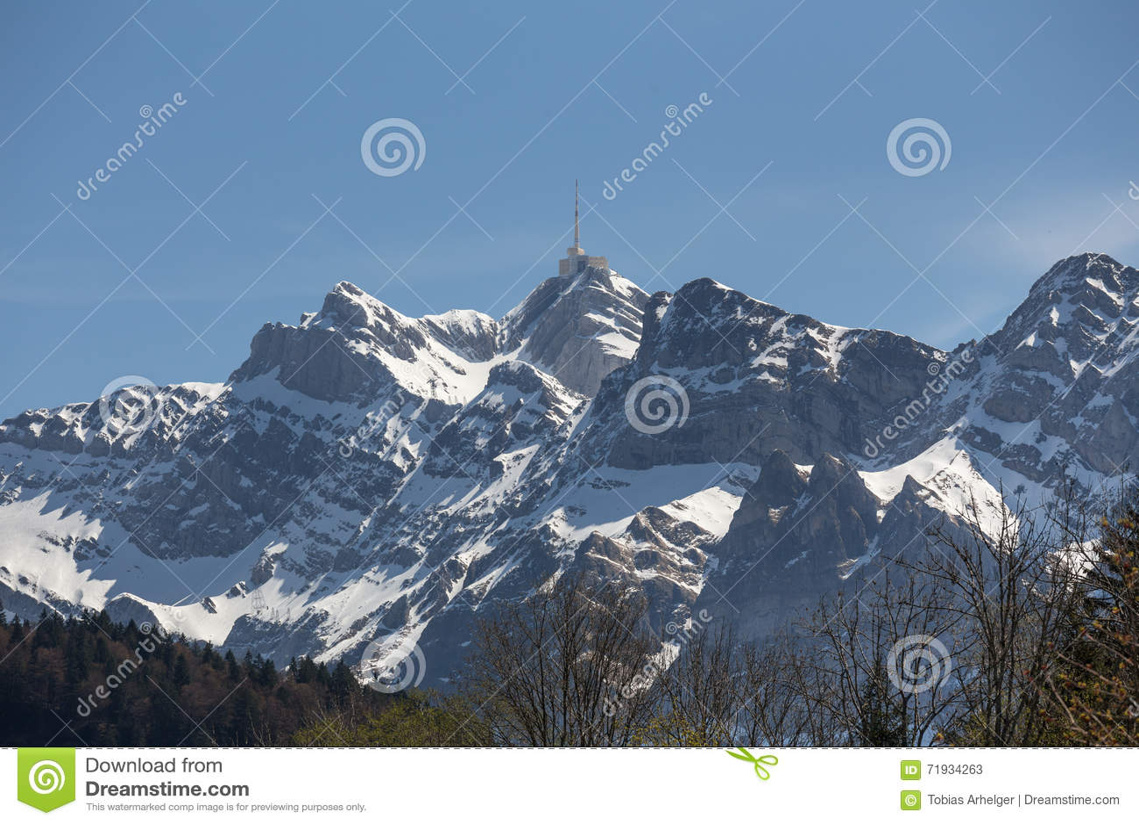 горная цепь Швейцария saentis