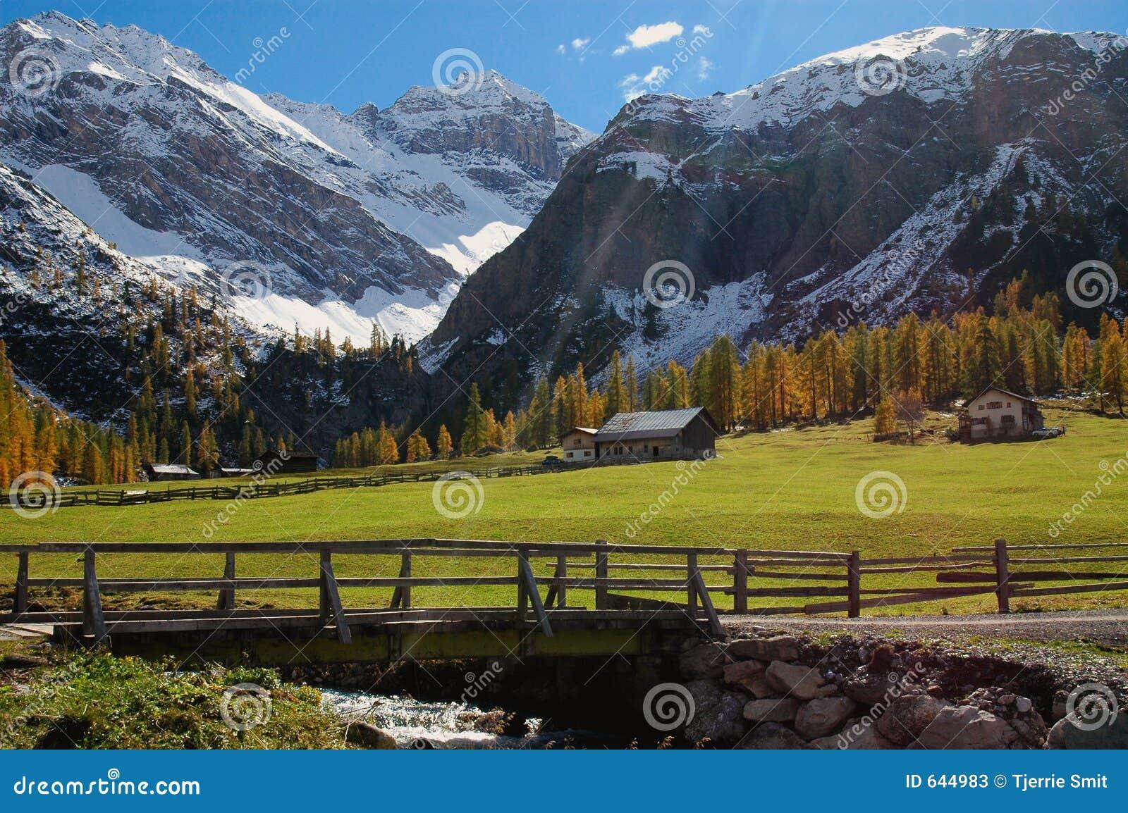 Download горный вид стоковое изображение. изображение насчитывающей bluets - 644983