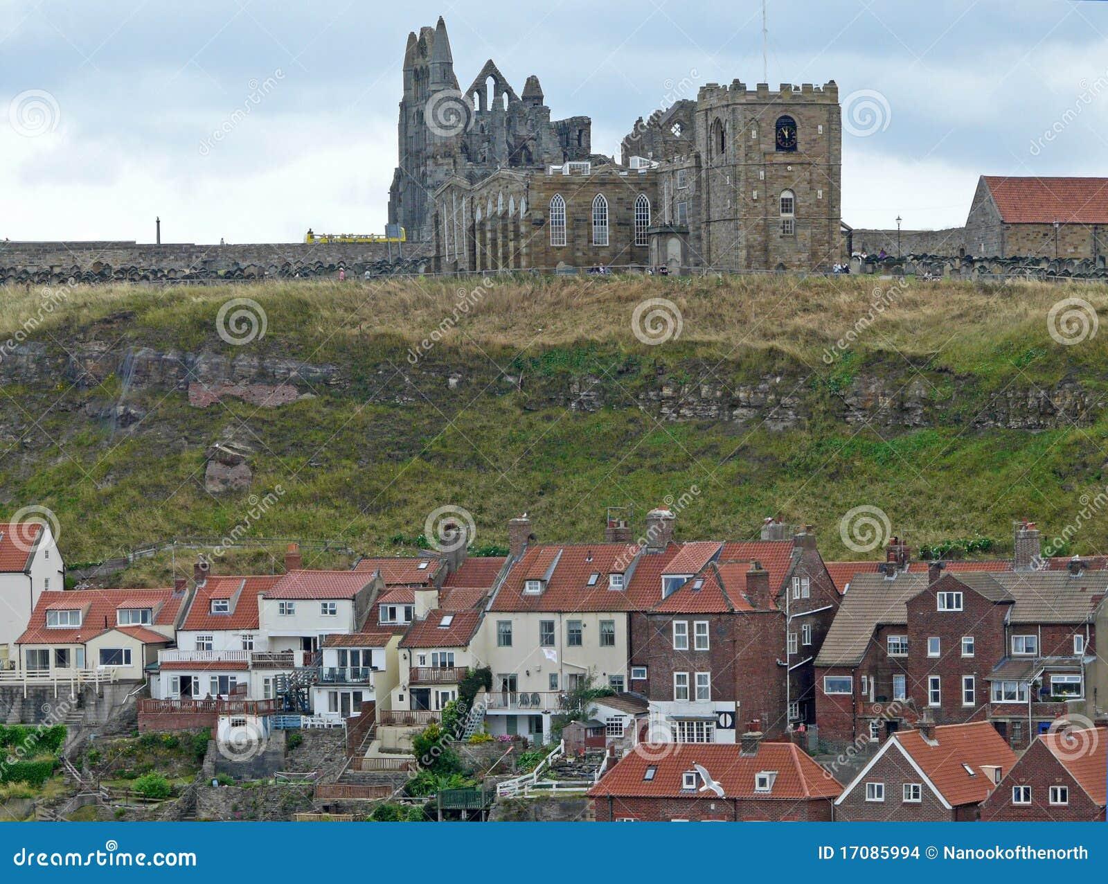 городок аббатства обозревая whitby