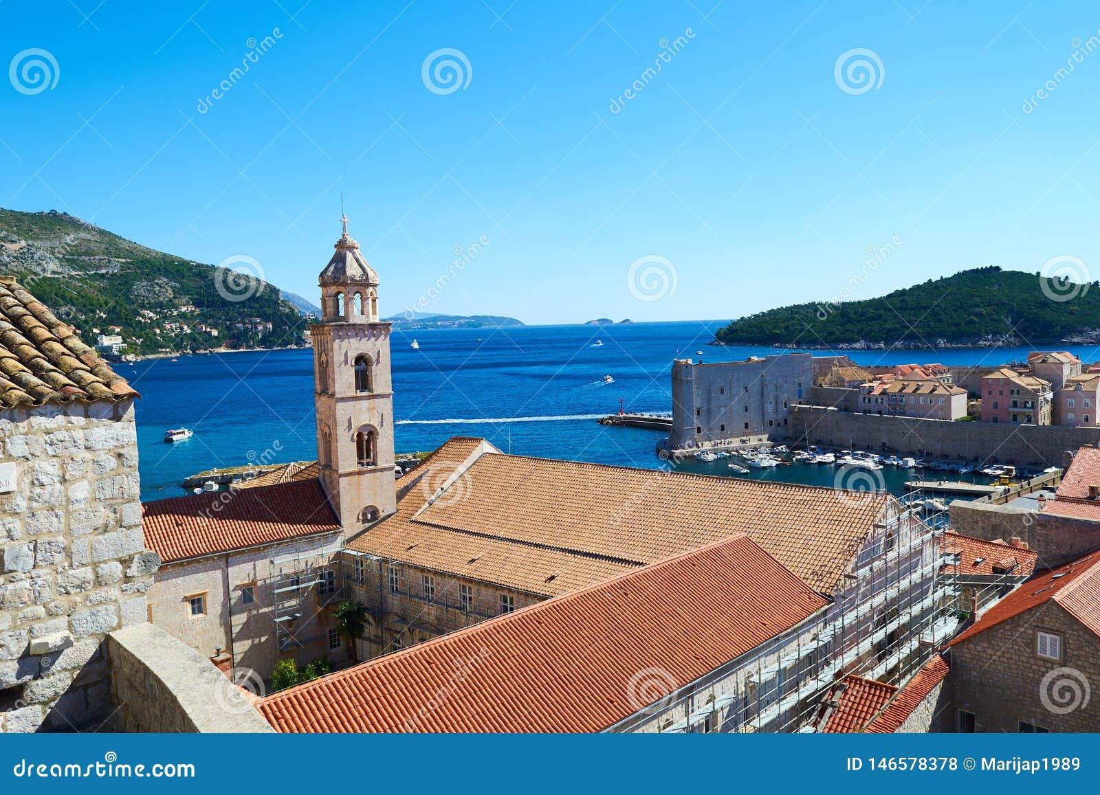 Городок Дубровника старый, Хорватия