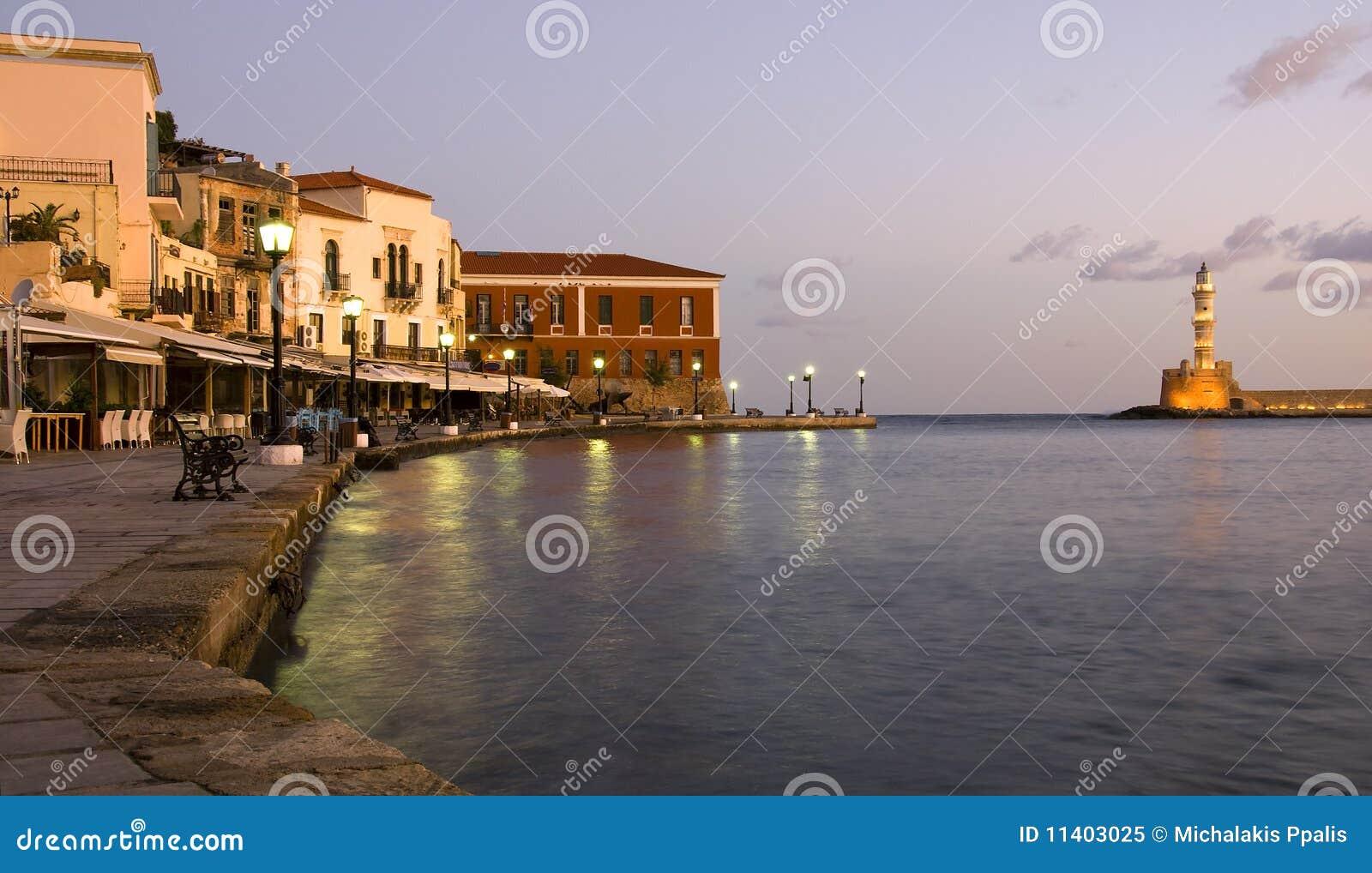 городок Крита chania