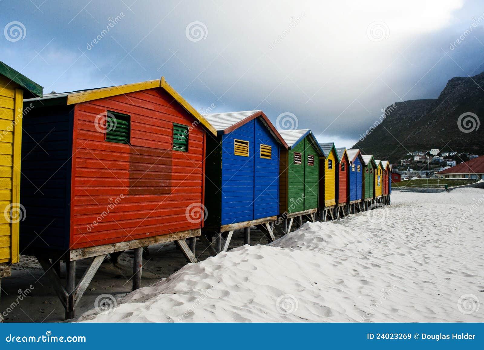 городок хат плащи-накидк пляжа