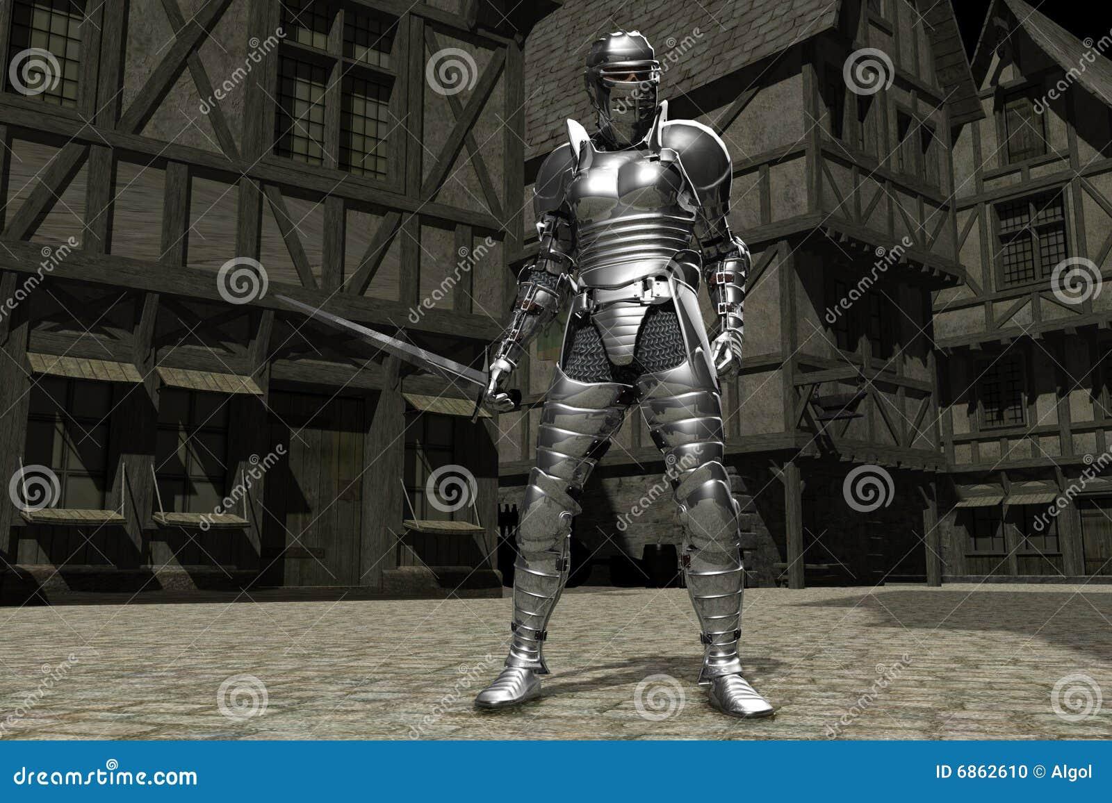 городок 01 рыцаря средневековый