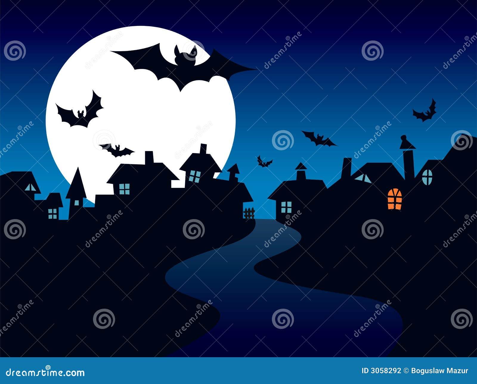городок halloween