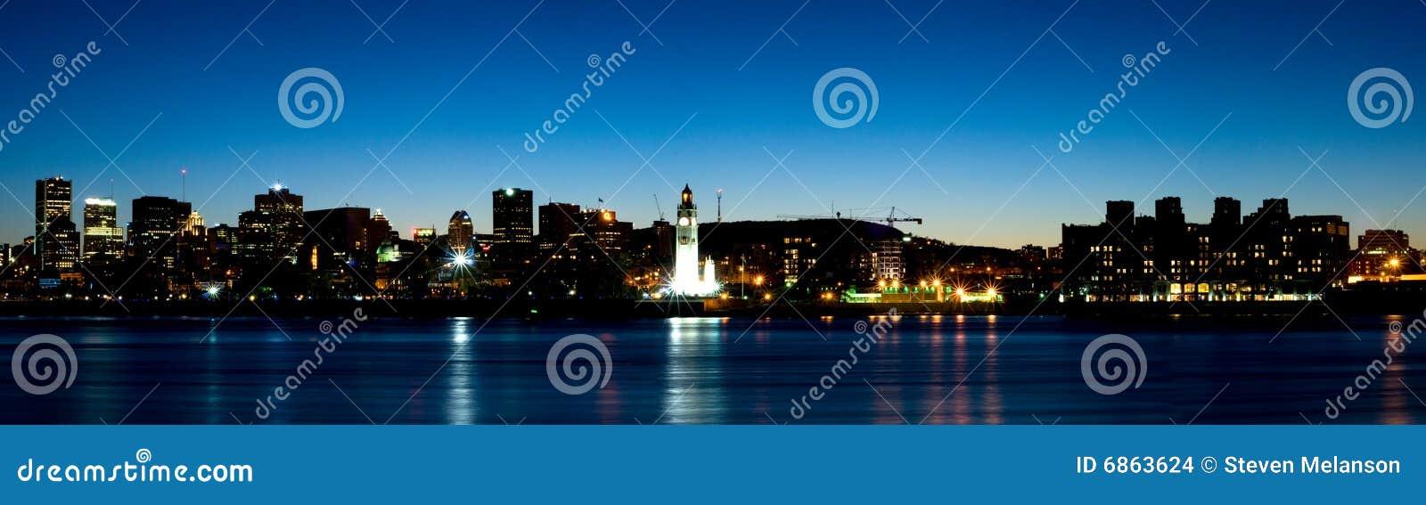 городская панорама montreal сумрака