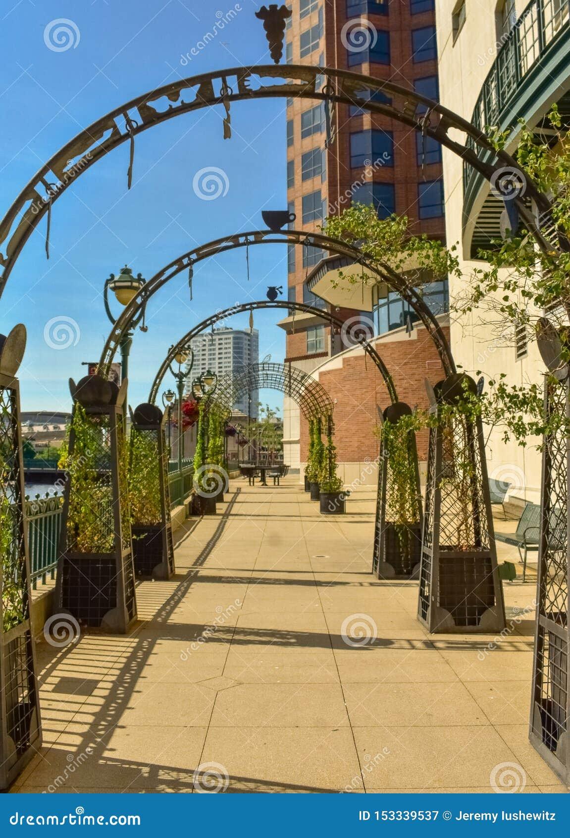 Городская прогулка реки Milwaukee