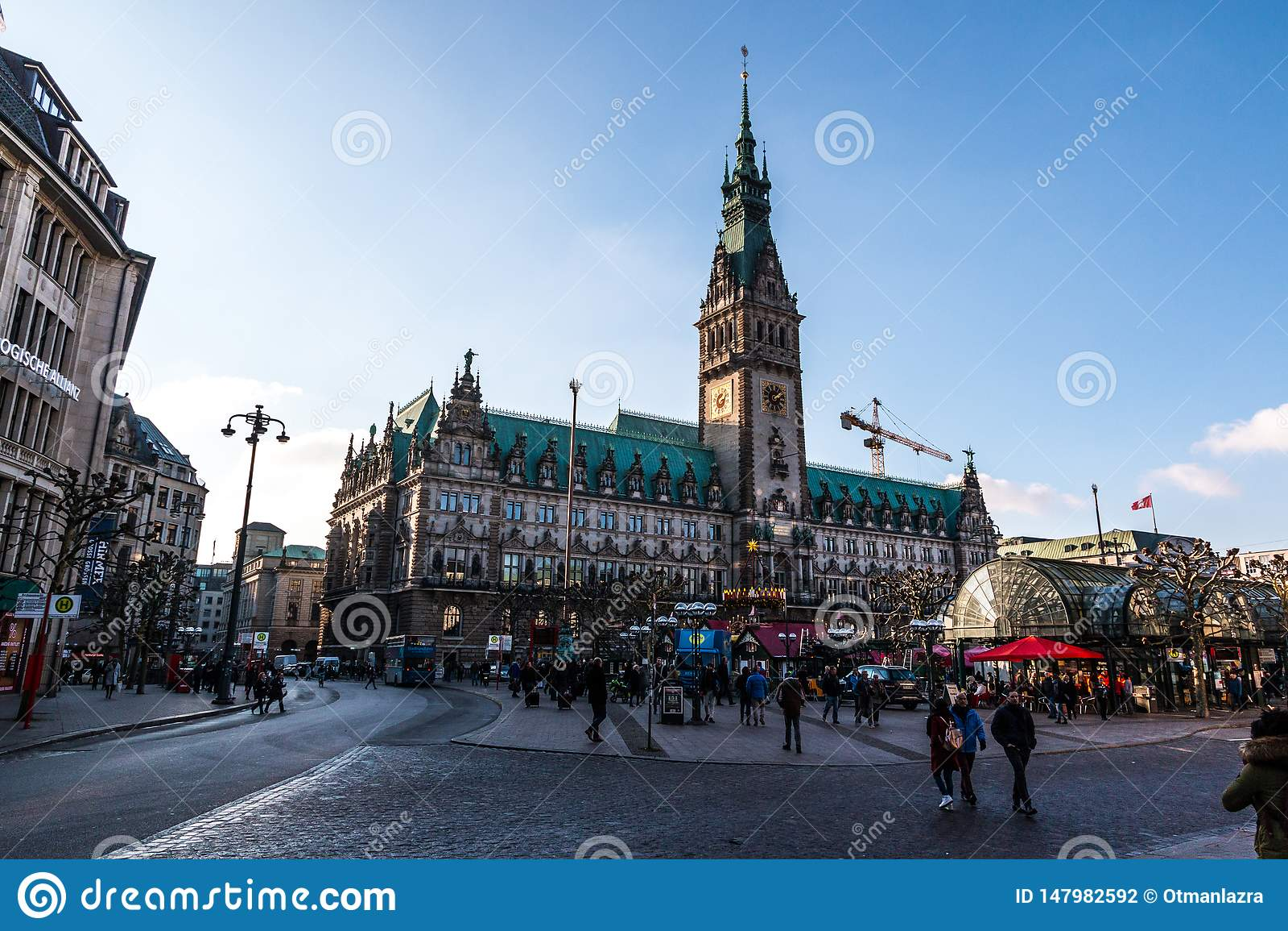 Городская ратуша Гамбурга, Германия
