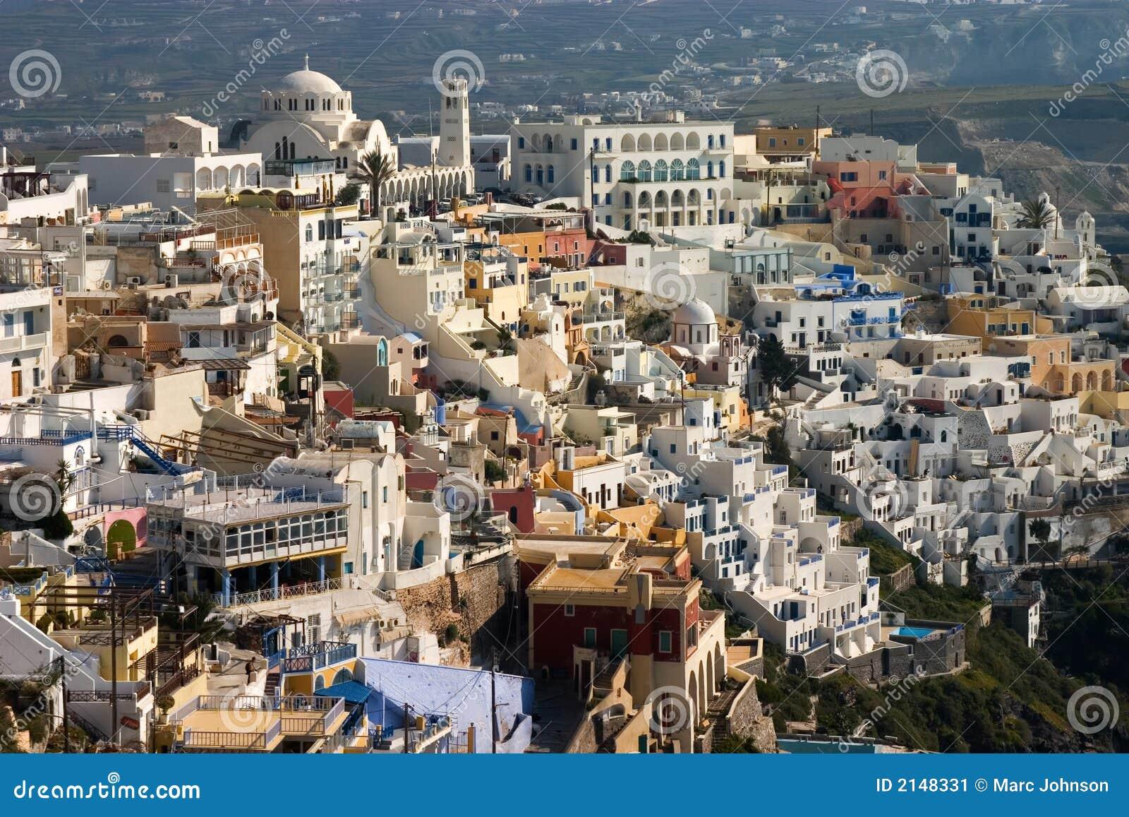 городское thira santori fira